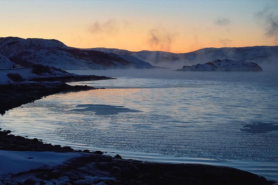 Frost Smoke over Varanger fjord