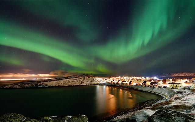 Nothern light over Bygøynes